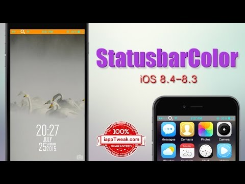 StatusbarColor : change color of iOS's Status Bar in Home and Lockscreen - iOS8.3-8.4/8