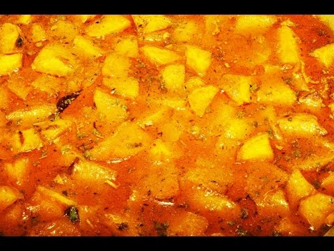 Aloo Curry - Indian Curry Recipe | Dhaba Aloo Curry | Baby Potato Curry