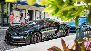 Supercars in Monaco August 2018 VOL  2 -  LaFerrari, One-77, Chiron, SLS AMG Black Series and more!!