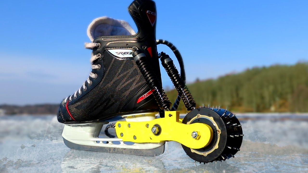 Electric Ice Skates That Can Also Be a Meat Grinder