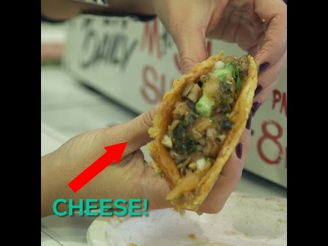 This taco shell is made of cheese