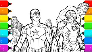 The Avengers Superhero Coloring Pages for Kids