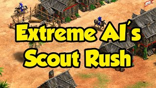 Extreme AI's new scout rush (Poles vs Franks gameplay)