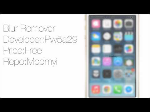 Blur Remover: Replace Translucency with Transparency in iOS 7