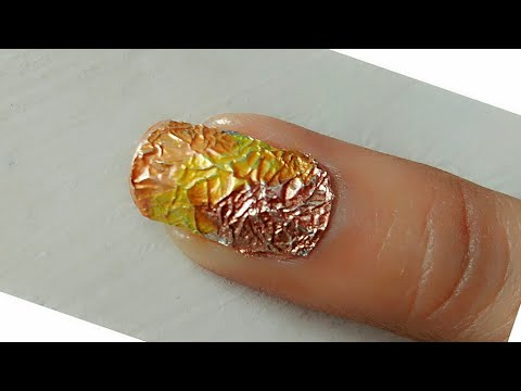 Nail art by using aluminum foil!! at home without any tools!!