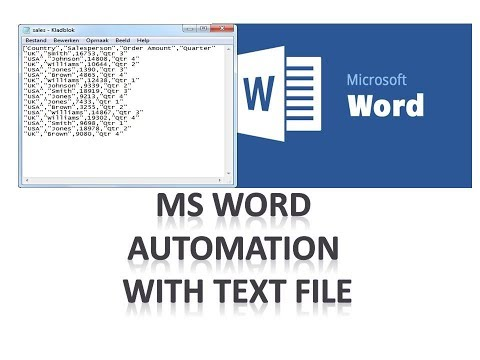 How to create MS Word document automatically with  text file