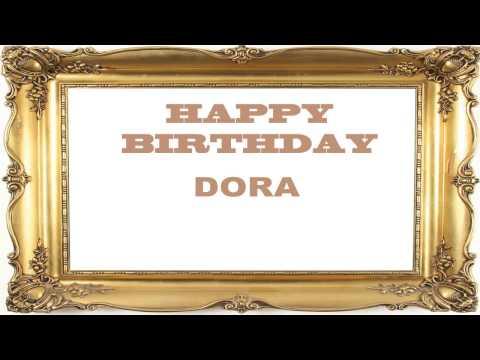 Dora   Birthday Postcards & Postales - Happy Birthday