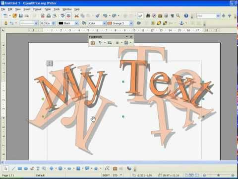 Open Office How to Use WordArt (Fontwork)