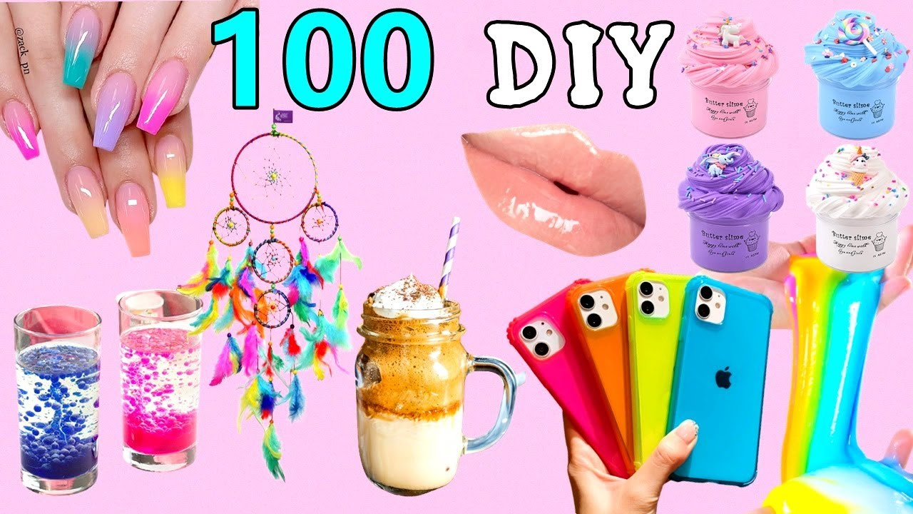 100 DIY - EASY LIFE HACKS AND DIY PROJECTS YOU CAN DO IN 5 MINUTES - ROOM DECOR, PHONE CASE and more