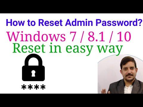 How to Reset forgotten password Administrator Password  Windows7 / 8 / 8.1 / 10