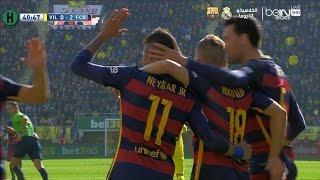 ملخص مبارة فياريال و  برشلونة 2-2 الدوري الإسباني 20-3-2016