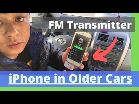 How to use fm transmitter for iPhone 6 in Older Car Radio