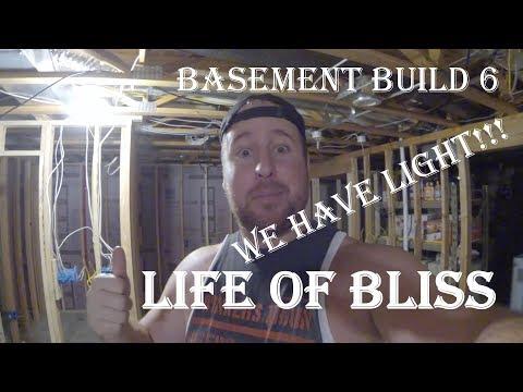 Basement Build 6 | Running Wires | Working Lights