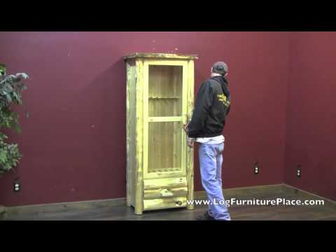 Cedar Lake Rustic Gun Cabinet from LogFurniturePlace.com