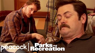 Ron Swanson Loves The Shoe Shine - Parks and Recreation