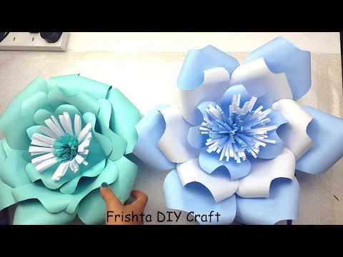 DIY Giant Paper Rose How To Tutorial | Paper Flower Backdrop for Wedding | 3d paper flower