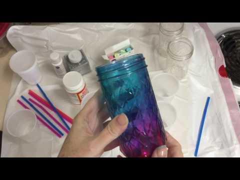 Galaxy/Tie Dye Mason Jars - Part One