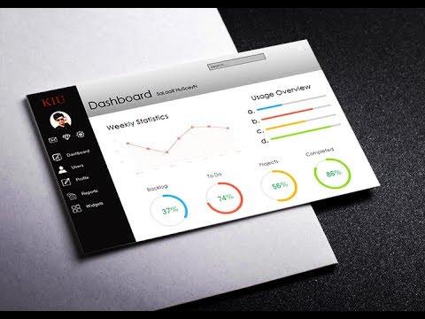 Flat Design Dashboard using Windows form Application C#/ vb . net
