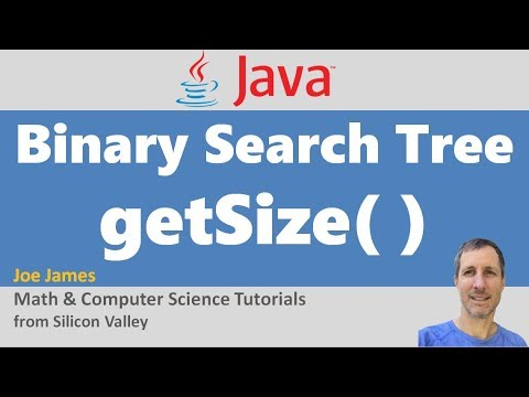 Java: Get Size of Binary Search Tree Recursively