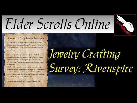 Jewelry Crafting Survey: Rivenspire [Elder Scrolls Online] ESO
