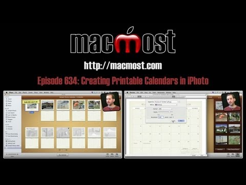 Creating Printable Calendars in iPhoto (MacMost Now 634)