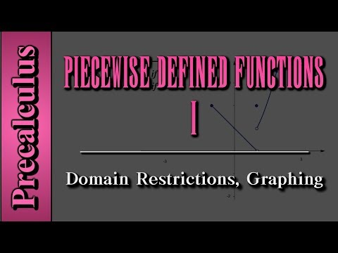 Precalculus: Piecewise Defined Functions (Level 1) | Domain Restrictions, Graphing