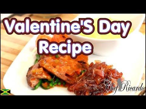 Perfect Pan Fry Steak Serve With Creamy Mashed Potato-Valentine'S Day Recipe