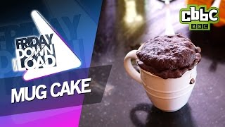How to make a cake in a cup with Harvey - CBBC Friday Download