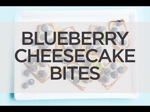 Blueberry Almond Cheesecake Bites