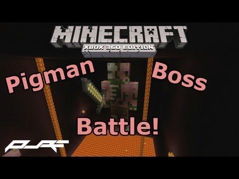 Minecraft Xbox 360: Zombie Pigman Boss Battle! W/ Download
