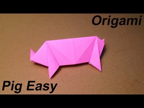 How to Make a Paper Animals / Origami Pig / Easy for Children