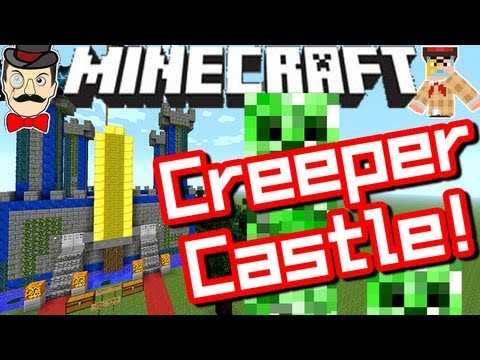 Minecraft CREEPER CASTLE BATTLE ! Clay Soldiers #122 !