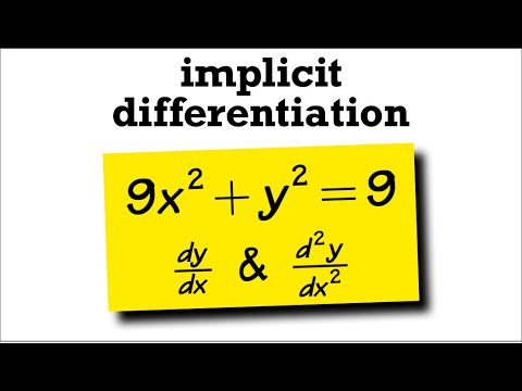 Second derivative with implicit differentiation, 9x^2+y^2=9