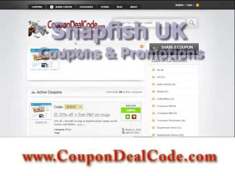 Snapfish UK Coupon Code - Snapfish UK Coupons, Shipping Codes