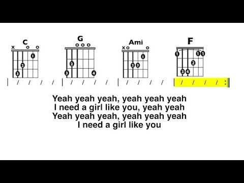 Girls Like You (Maroon 5) CLEAN Guitar Chord and Lyrics Play-Along