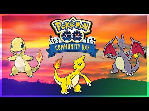 SHINY CHARIZARD!!! Pokemon GO Community Day | May 2018