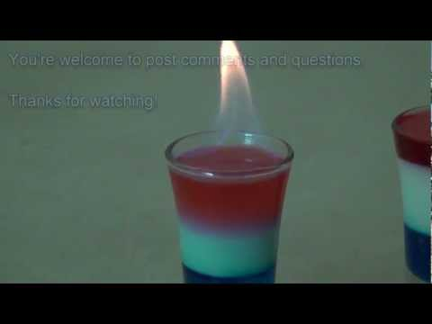 Red, White and Blue Layered Drink - Patriotic Colors Density Column