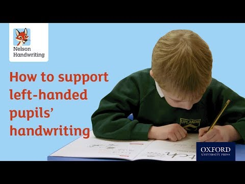 How to support left-handed pupils' handwriting