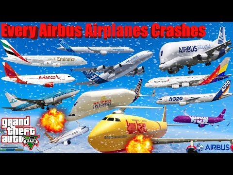 GTA V: Every Airbus Airplanes Winter Snowy Best Extreme Longer Crash and Fail Compilation (60FPS)
