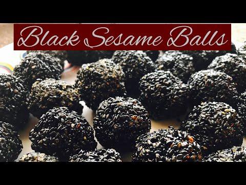 Recipe 3- Black Sesame Balls|| Ellunda || Easy snack recipe|| Healthy snacks