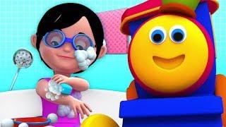 Baby Bath Time   Bob The Train   Nursery Rhymes For Kids   Cartoons Videos