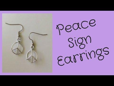 DIY Peace Sign Earrings