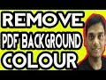 How to Add or remove PDF Background colour (Hindi)
