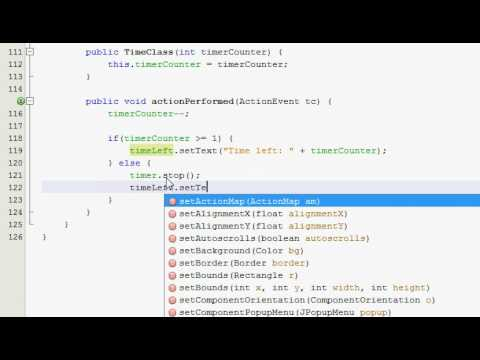 Java GUI Tutorial 33 - Click counter & timer (Part 3 of 4)