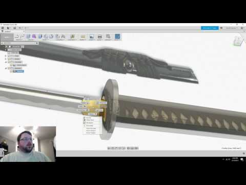 How to Make a Sword in Fusion 360 - Part 1 - Katana
