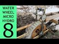 Waterwheel Microhydro P8, More Volts