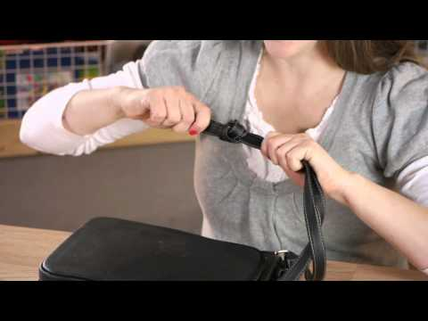 How to Tie a Purse Strap Smaller : Household Decorations