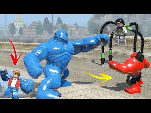 Doctor Octopus vs Red Hulk vs A-BOMB (Transformation) LEGO Marvel Super Heroes