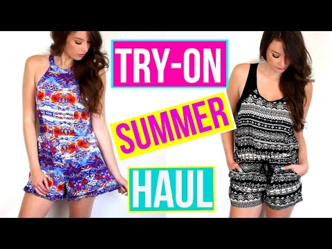 TRY-ON SUMMER CLOTHING HAUL| Kelly Nelson
