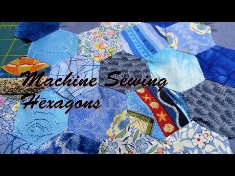Machine Sewing Hexagons